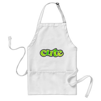 Neon Green Yellow Camo; Camouflage Standard Apron