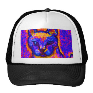Neon Grey Cat  CricketDiane Art & Design Cap