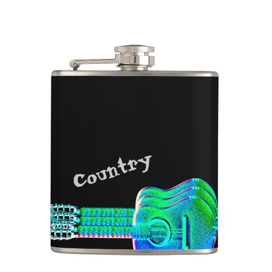 Neon Guitars Country Music Fan or Musician Hip
