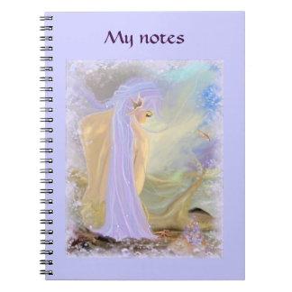 Neon-Haired Mermaid Spiral Notebook