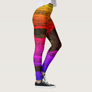 NEON HALLOWEEN MUMMY LEGS by Slipperywindow Leggings