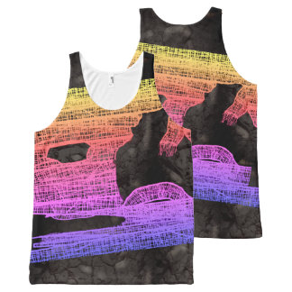 NEON HALLOWEEN MUMMY WRAPPING by Slipperywindow All-Over Print Tank Top
