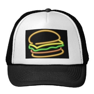 Neon Hamburger Hat