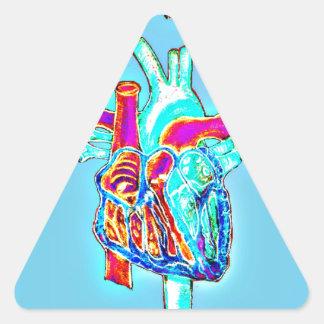 Neon Hand Drawn Anatomical Heart Triangle Sticker