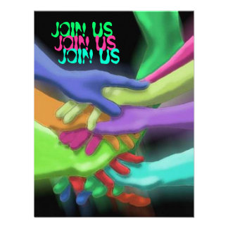 NEON HANDS JOIN US GRADUATION PARTY INVITATION