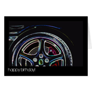 neon - happy birthday! card