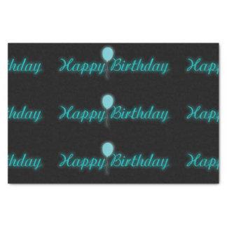 Neon Happy Birthday Sign Tissue Paper