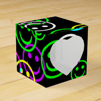 Neon Happy Face Collage Gift Box