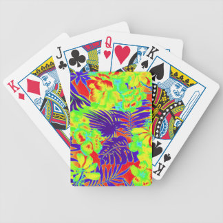 Neon Hawaii Bicycle Playing Cards