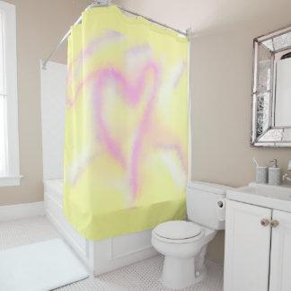 Neon Heart 71x71 Shower Curtain
