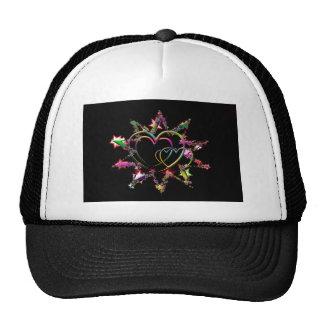 Neon Hearts in Starburst Cap