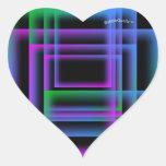 Neon hearts sticker sheet