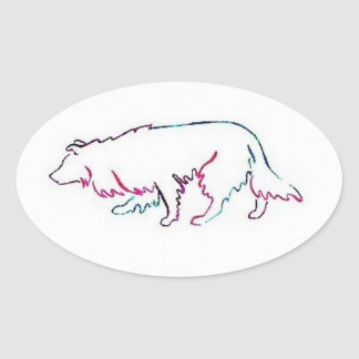 Neon Herd~Border Collie Sticker