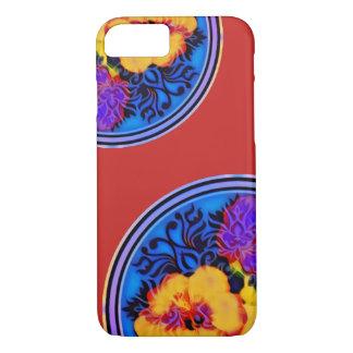 Neon hibiscus kimono iPhone 8/7 case
