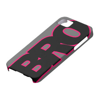Neon Hot Pink BRO iPhone 5 Cover