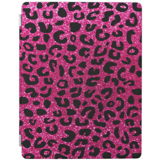 Neon hot pink cheetah print iPad cover