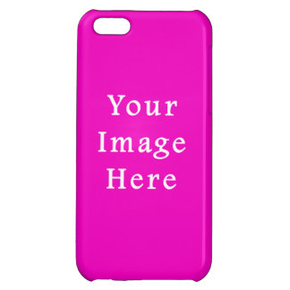 Neon Hot Pink Color Trend Blank Template Case For iPhone 5C