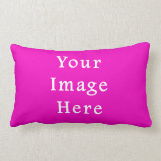 Neon Hot Pink Color Trend Blank Template Pillow