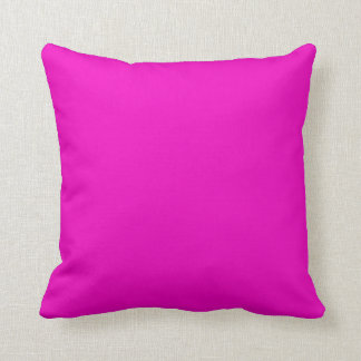 Neon Hot Pink Color Trend Blank Template Cushion