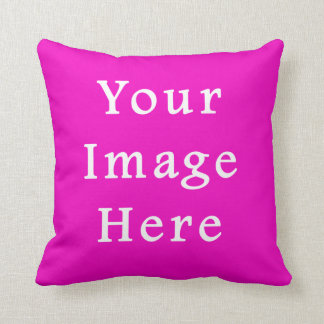 Neon Hot Pink Color Trend Blank Template Throw Pillow