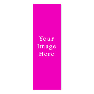 Neon Hot Pink Color Trend Blank Template Pack Of Skinny Business Cards