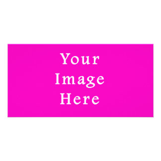 Neon Hot Pink Color Trend Blank Template Photo Cards