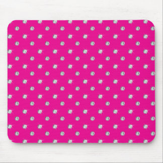 Neon hot pink diamonds mouse pad