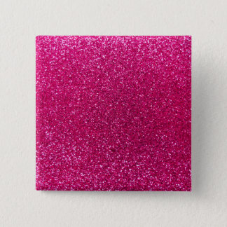Neon hot pink glitter 15 cm square badge