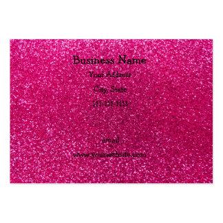 Neon hot pink glitter business cards