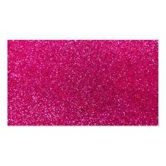 Neon hot pink glitter business card templates