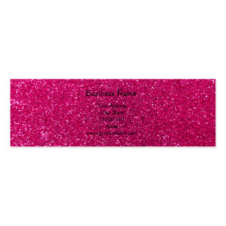Neon hot pink glitter business card