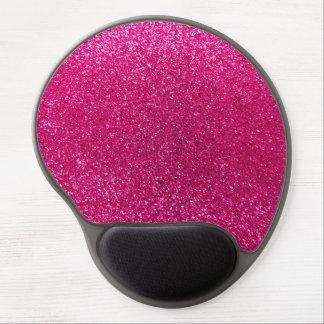 Neon hot pink glitter gel mouse mat