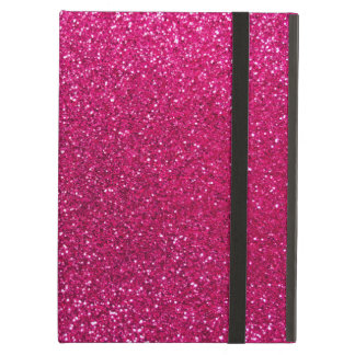 Neon hot pink glitter iPad air covers