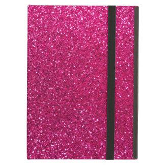 Neon hot pink glitter iPad covers