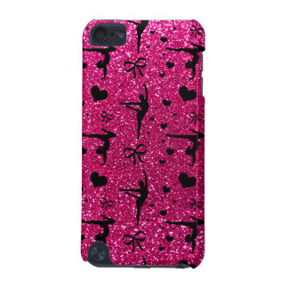 Neon hot pink gymnastics glitter pattern iPod touch 5G cover