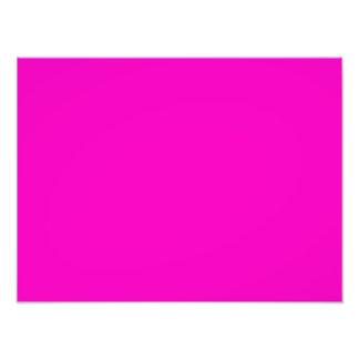 Neon Hot Pink Light Bright Fashion Colour Trend Photo Print