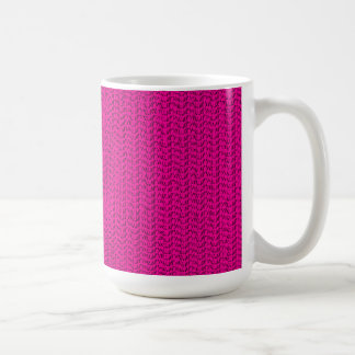 Neon Hot Pink Weave Mesh Look Basic White Mug