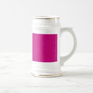 Neon Hot Pink Weave Mesh Look Beer Steins