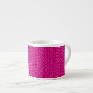 Neon Hot Pink Weave Mesh Look Espresso Mug