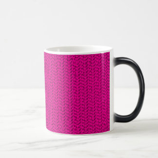Neon Hot Pink Weave Mesh Look Morphing Mug