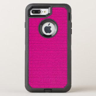 Neon Hot Pink Weave Mesh Look OtterBox Defender iPhone 8 Plus/7 Plus Case
