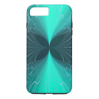 Neon Ice Blue Futuristic Cyber Abstract Lasers iPhone 7 Plus Case