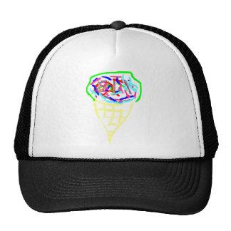Neon Ice Cream Hats