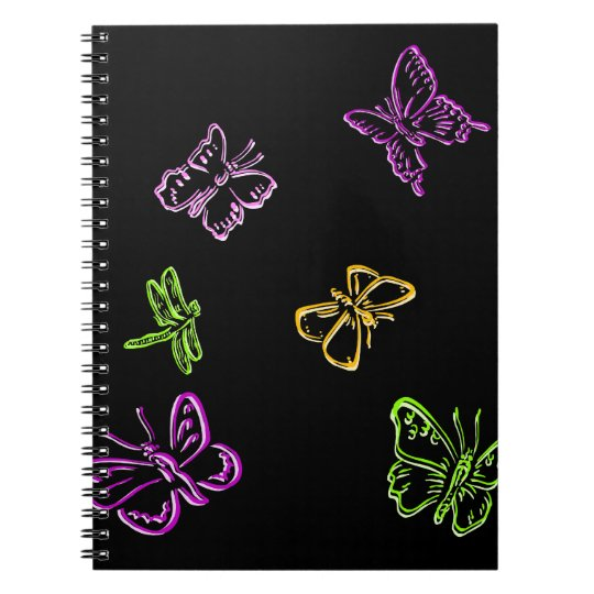 Neon Insects Notebook