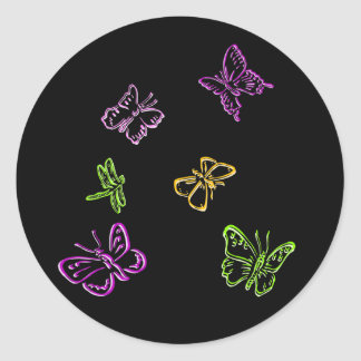 Neon Insects Stickers