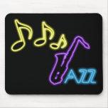 Neon Jazz Bar Sign Mousepad