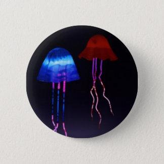 Neon Jellyfish 6 Cm Round Badge