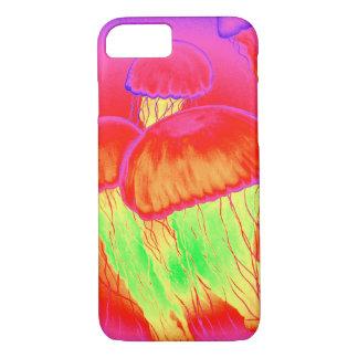 Neon Jellyfish iPhone 7 Case