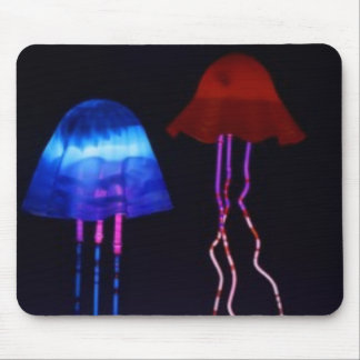 Neon Jellyfish Mouse Mat