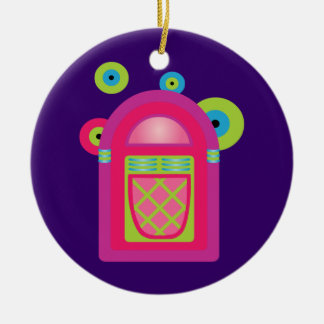 Neon Jukebox Christmas Ornament